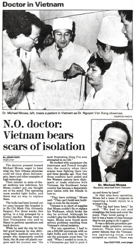Dr. Moses in The Times-Picayune