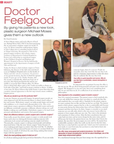 Dr. Moses in New Orleans Magazine