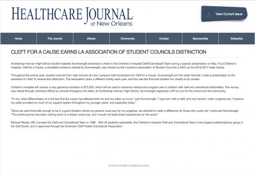 Healthcare Journal New Orleans ENews