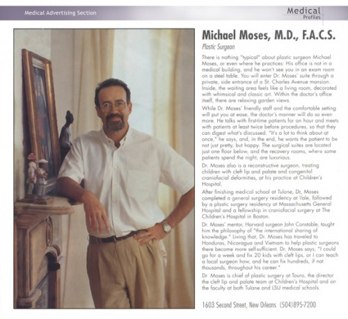Dr. Michael Moses in Medical Profiles